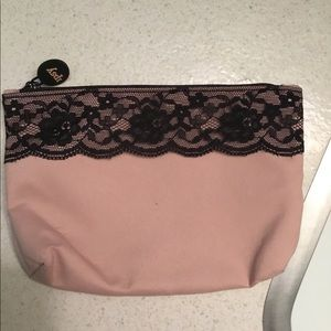Brand new pink with black lace makeup ipsy bag